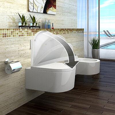 Lux-aqua Design Luxus Hänge WC Toilette mit SoftClose Sitz aus Duroplast STR2044