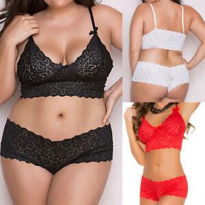 229160ed12e Plus Size Women Lingerie Corset Lace Push Up Bra G-String Underwear ...