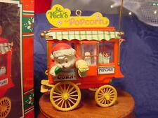 SANTA CLAUS POPCORN CART ENESCO CHRISTMAS ORNAMENT Poppin' Hoppin' Holidays NEW
