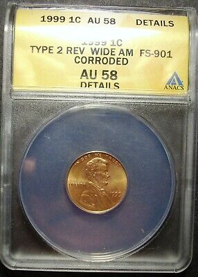 1999 P Lincoln Memorial Cent Type 2 Wide AM ANACS ...