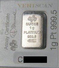 25 X 1 Gram Pamp Fortuna Platinum Bar .9995 Fine Multigram Veriscan