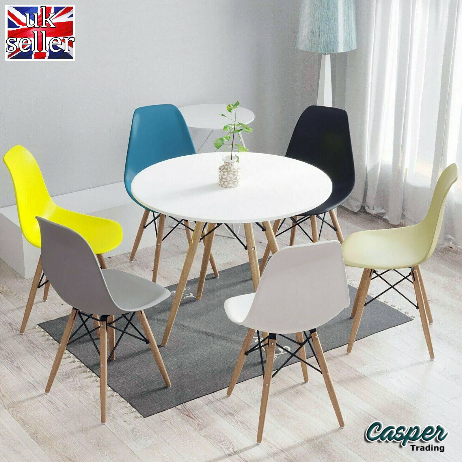 Charter Dining Table 90cm 2x Hudson Chair Set Butcher S Block Top Design Oak Cream F00177 For Sale Ebay