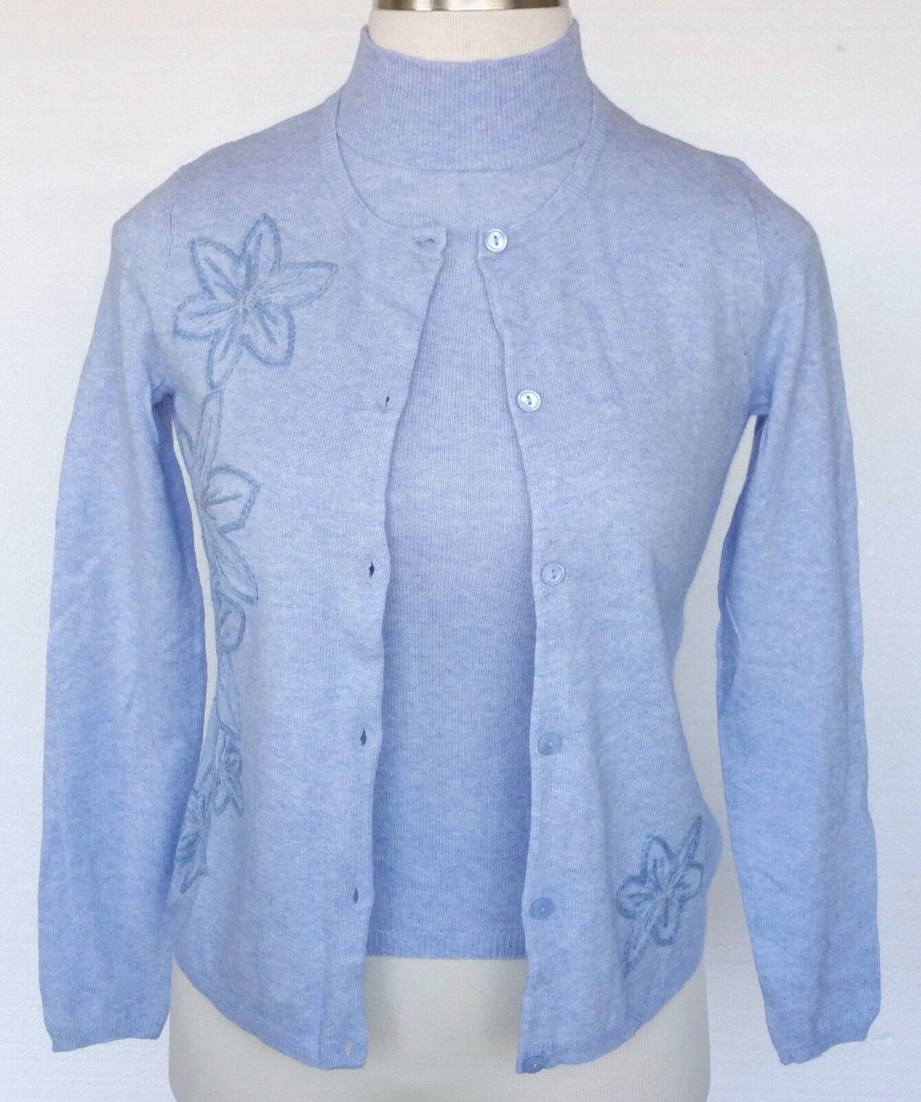 Randolph Duke Cardigan Sweater & Tank Top 2 pc Set New Angora Cashmere Blend S