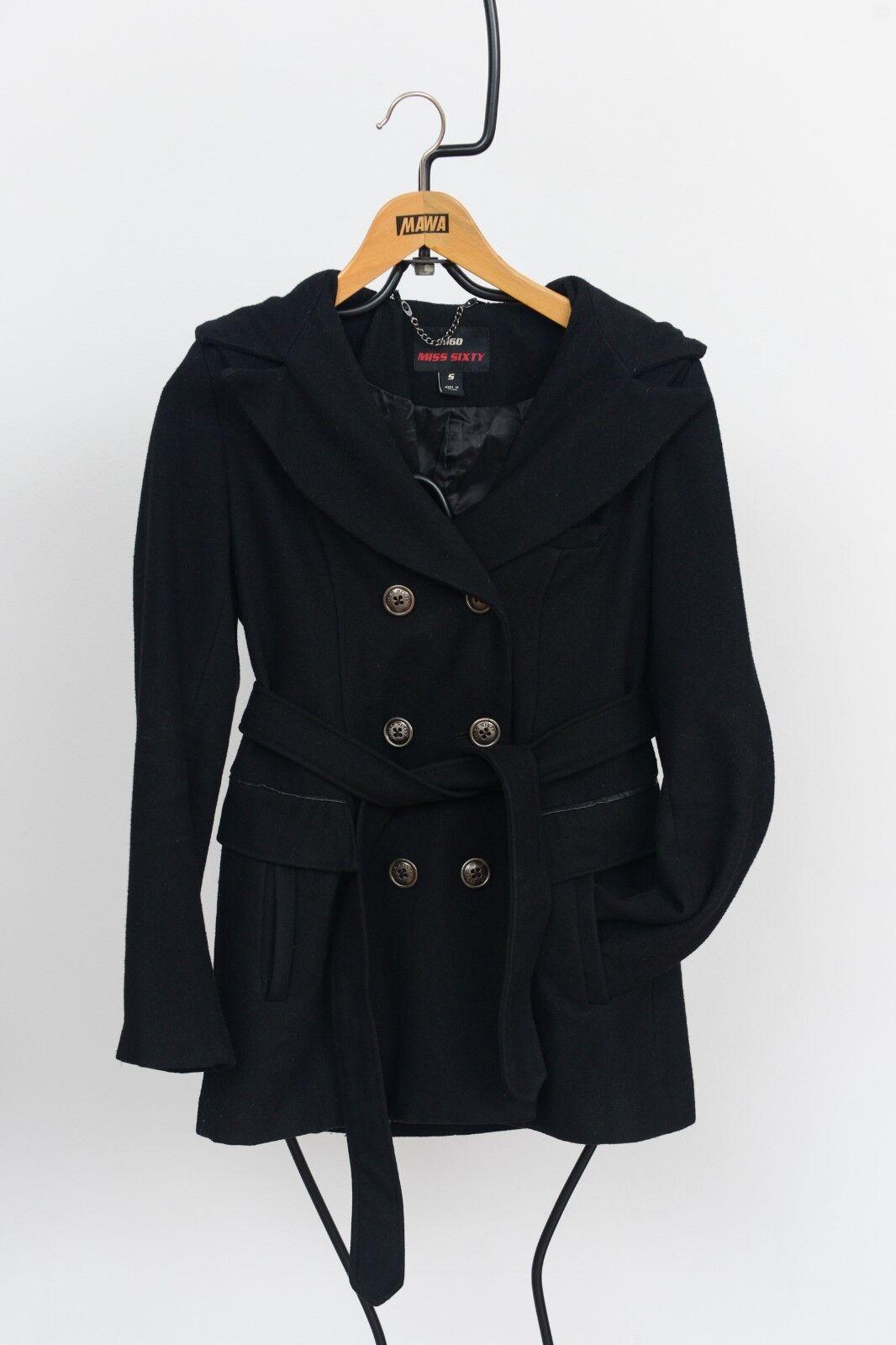 M60 MISS SIXTY -  Wolle Mix Mantel Mantel Mantel mit Kapuze - Schwarz - Gr. S | Zuverlässiger Ruf  | Hohe Qualität Und Geringen Overhead  | Hochwertig  4f1b4c