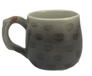 Vintage Ff Mini Coffee Mug Leaves Hand Painted Tea Cup Ebay
