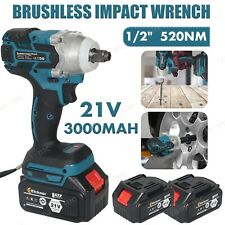 12 Cordless Impact Wrench Brushless Rattle Gun With Battery Replace For Makita