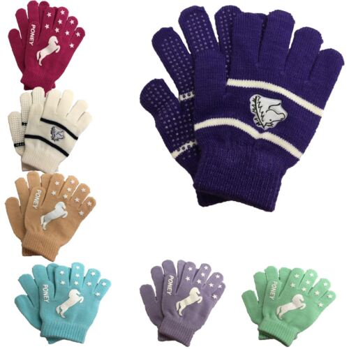 Riders Trend Childrens Horse Ridng Fun Comfortable Warm Silicone Riding Gloves