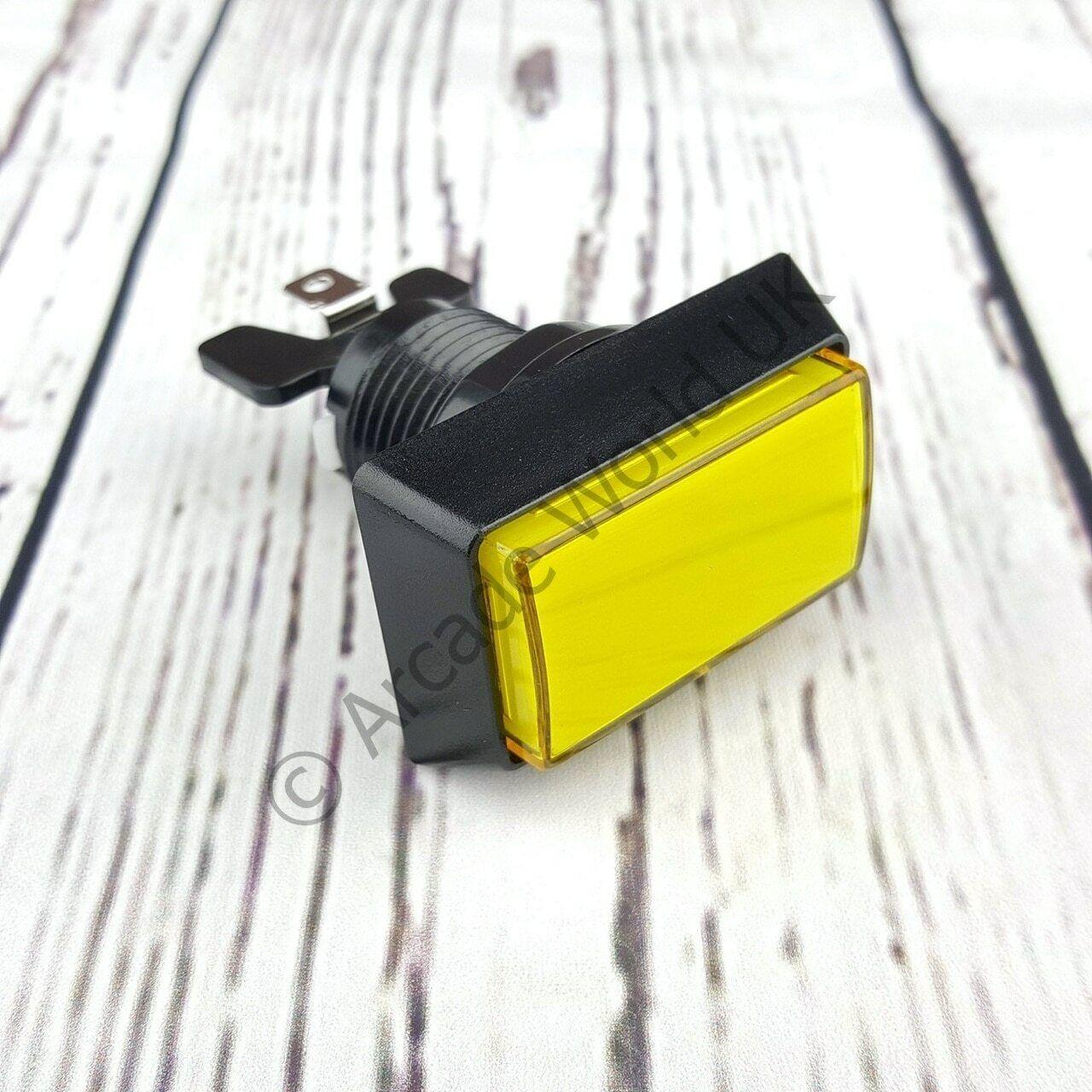 High Profile Rectangular Illuminated Arcade Button - 12V LED & 4.8mm Microswitch