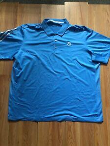 Adidas-Climacool-Mens-Sky-Aqua-Blue-XL-Extra-Large-Short-Sleeve-Golf-Polo-Shirt