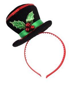 nuovo autentico scarpe sportive comprare on line Dettagli su Natale Mini Pupazzo di Neve Cappello su Fascia per Capelli con  Agrifoglio &