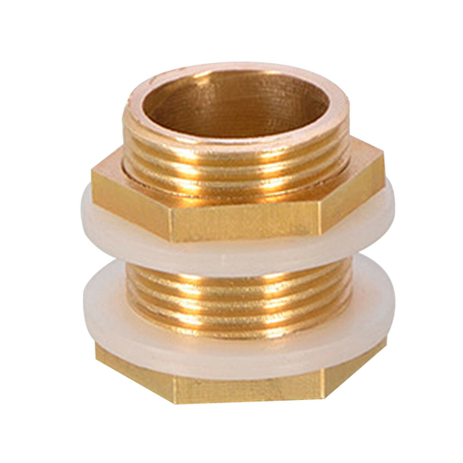 2 Pieces Brass Water Tank Connector With Plugs Durable Gasket For Rain Barrels