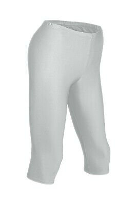 Damen Radler Schwarz Radlerhose Glanz shorts shiny stretch kurze Hose glänzend