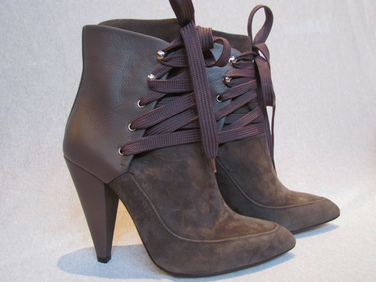 NEW NWB THE THE THE LACE UP KANSAS ANKLE BOOT by IRO BROWN LEATHER SUEDE SZ 36 MSRP  800 870c86