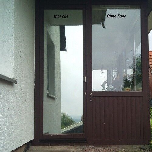 6,51   m² premium lámina efecto espejo para ventana espía projoección solar UV projoección visual lámina
