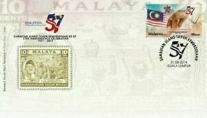 SJ-57th-Independence-Celebration-Malaysia-2014-Flag-Independence-Nation-FDC