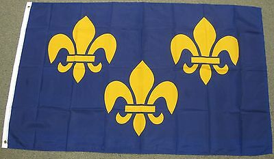 3X5 FLEUR DE LIS FLAG FRENCH FLAGS FRANCE NEW EU F141