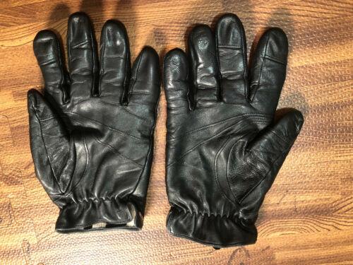 Elma Women's Black Leather Shell Winter Gloves Siz