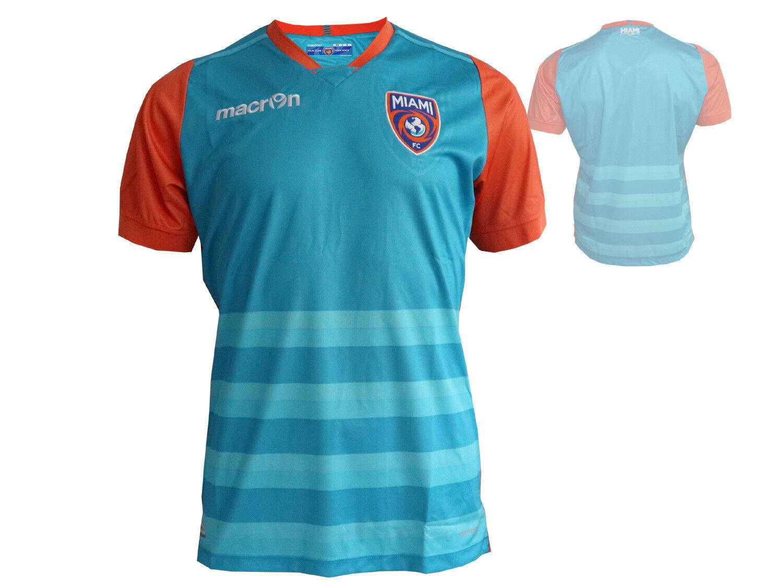Macron Miami FC Authentic Authentic Authentic Home Fußball Jersey NASL MLS Trikot blaugrün S - XXL  | Schönes Aussehen  fbbd71