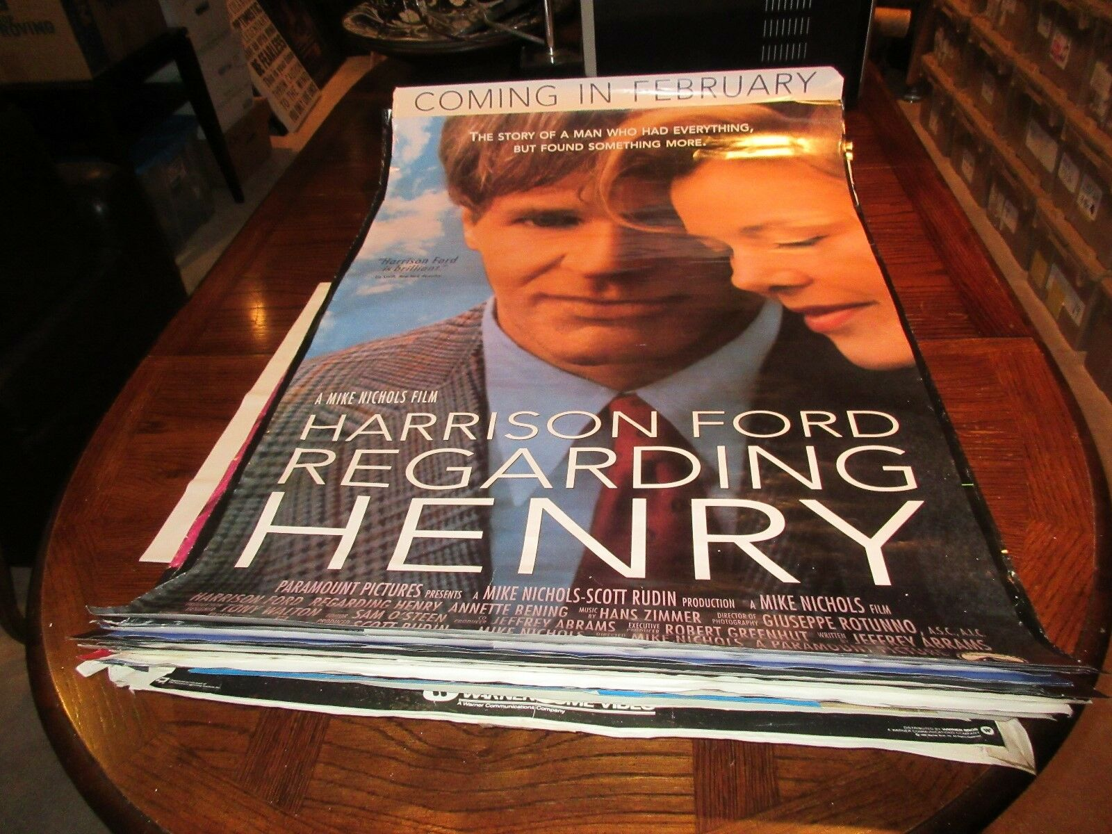 "Regarding Henry , Harrison Ford , POSTER , 1991 , 27"" X"