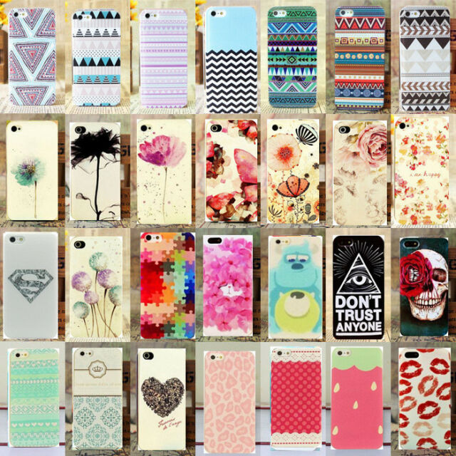 Various Paint Pattern Cute Phone Hard Skin Case Cover for Apple IPhone 5 & 6 4.7