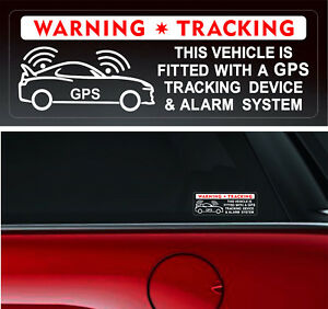 4-Warning-Stickers-Signs-GPS-Tracking-Alarm-Device-Car-Vehicle-Window-Security
