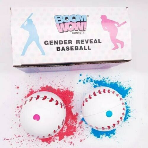 Gender Reveal Baseball 2 PackPink /& Blue SetExploding Powder Baseball