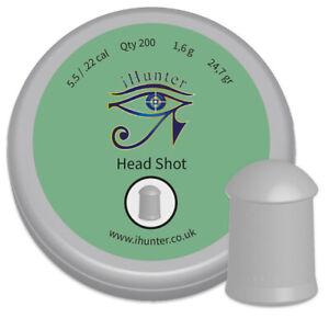 iHunter-Headshot-Air-Gun-Pellets-22-5-5mm-cal-Qty-200-Free-P-amp-P