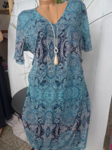 Oliver mousseline a motifs taille 42 à 54 Manches Courtes 126 NEUF Robe Triangle s
