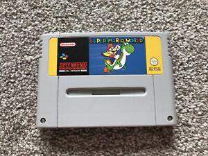 Super Mario World Super NINTENDO SNES Juego UK PAL EUR * solo Carro *