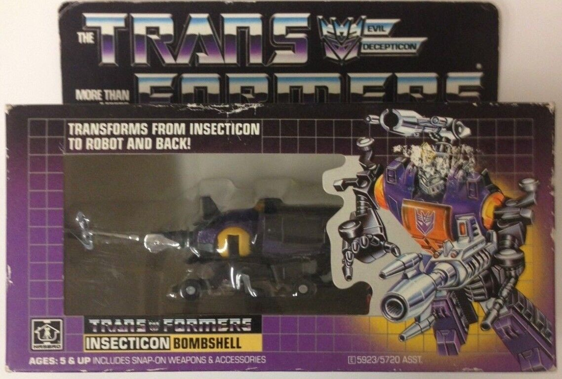 TRANSFORMERS 1985 GI Generation 1 Insecticon Bombshell Sealed Never Opened Rare