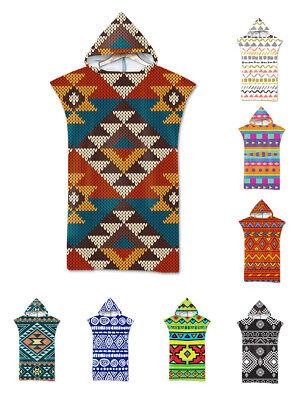 Aztec Geometric Diamonds Zigzags Hooded Swim Beach Towel Poncho Changing Robe Ebay