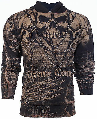 XTREME COUTURE by AFFLICTION Mens Hoodie Sweat Shirt Jacket KILLER Biker UFC $78