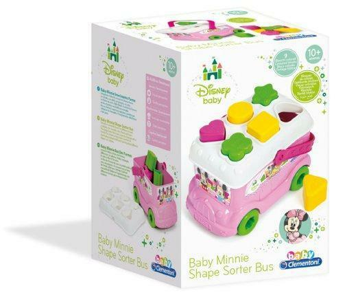 New Clementoni Disney Baby Minnie Mouse Shape Sorter Bus
