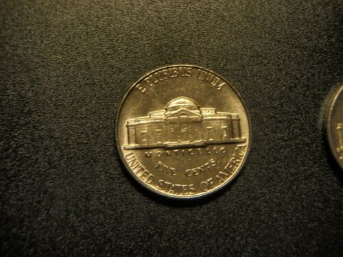 WITH VISABLE STEPS-Nice 1-1955 p Jefferson nickel choice bu uncirculated