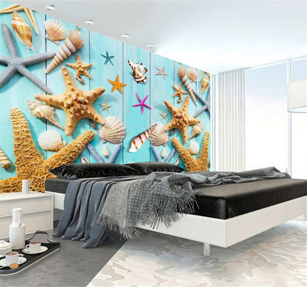Blau Rorty Starfish 3D Full Full Full Wall Mural Photo Wallpaper Printing Home Kids Decor 5a0460