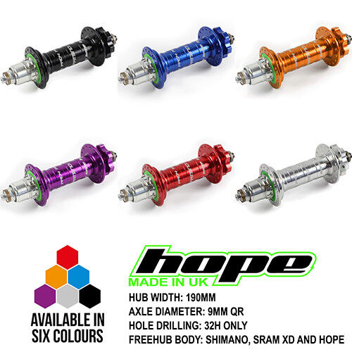 All Colors Width and Axle Options Brand New Hope Pro 4 Fatsno Rear Hub 32H