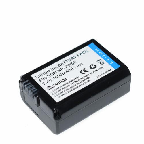 6000 A6500 A7R A7S A5100 Alpha Cargador De Batería O Para Sony NP-FW50 BC-VW 1 /& cámara de lentes intercambiables con e-mount