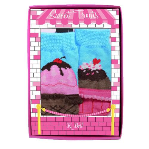 0-12 Months Bell Baby Sweet Treats Adorable 2 Pack Gift Set Infant Socks K