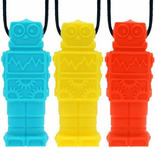 6PCS Sensory Chew Necklace Chewelry Autism ADHD Biting Oral Motor Chewys 3PCS