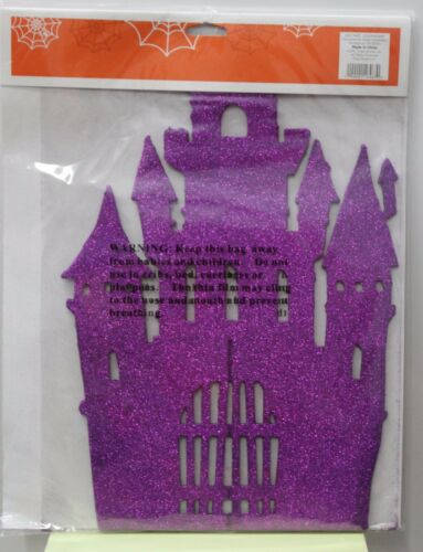 HAUNTED HOUSE HALLOWEEN CENTERPIECE Party Table Glitter Decoration Spooky NEW