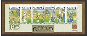 Alderney-2001-30-Jubilaeum-Golf-Club-Sonderblock-Nicht-Gefasst-Postfrisch-MNH