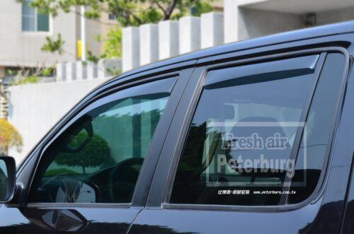 MIT for Volkswagen Amarok In-channel Window Deflector Weather Guard 2012-