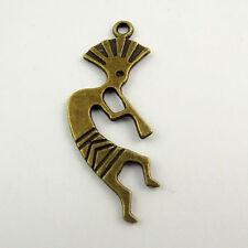 20pcs Antiqued Bronze Vintage Alloy Hollow Moon Pendant Charms 33324
