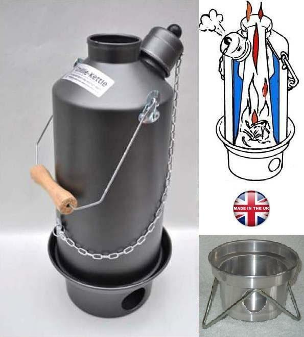1.5ltr Hard Anodised Ghillie camping kettle, FREE UK Postage  (Ref 1)