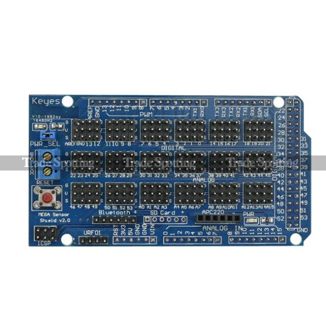 SainSmart Sensor Shield V2 For Arduino Mega2560 R3 IIC Bluetooth LCD SD IO