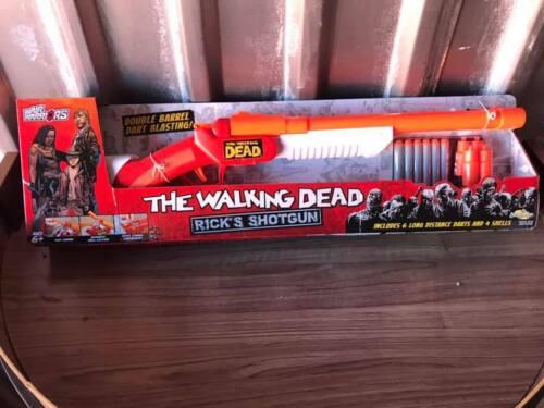 The Walking Dead Air Warriors Toy Dart Gun by BuzzBee Toys NEW Rick/'s Shotgun