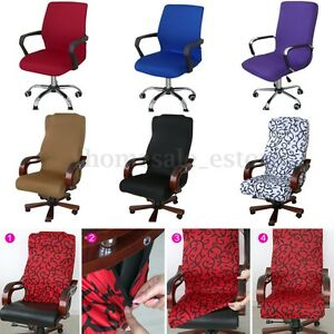 Image Is Loading Swivel Computer Chair Cover Stretch Office Armchair  Protector