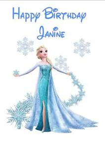 Peachy Personalised Printed Elsa Frozen Birthday Card Any Age Name Ebay Funny Birthday Cards Online Barepcheapnameinfo