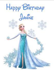 Phenomenal Personalised Printed Elsa Frozen Birthday Card Any Age Name Ebay Birthday Cards Printable Benkemecafe Filternl
