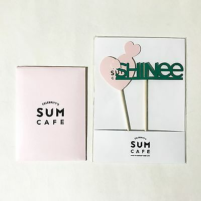 SM TOWN COEX Artium SUM Cafe SHINee 1+1 Artist Cup Cake Pick + Mini Message Card